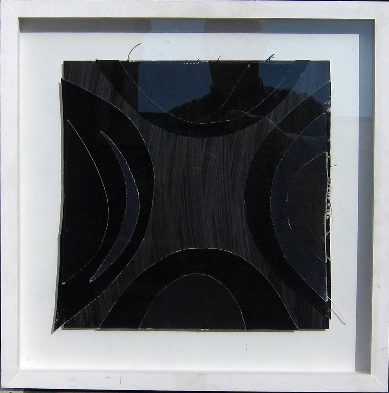 Lot 41 - TERRY FROST, R.A. [1915-2003]. Blacks Acrylic on canvas collage on board. Studio stamp signature