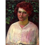 CECIL STEPHENSON [1889-1965]. Portrait of E J Wheeler, 1919. Oil on board. Signed and dated. 41 x 30