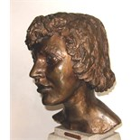 Sir JACOB EPSTEIN [1880-1959]. Kitty [2nd portrait], 1947. Bronze, edition of 6? 33 cm high [43 cm
