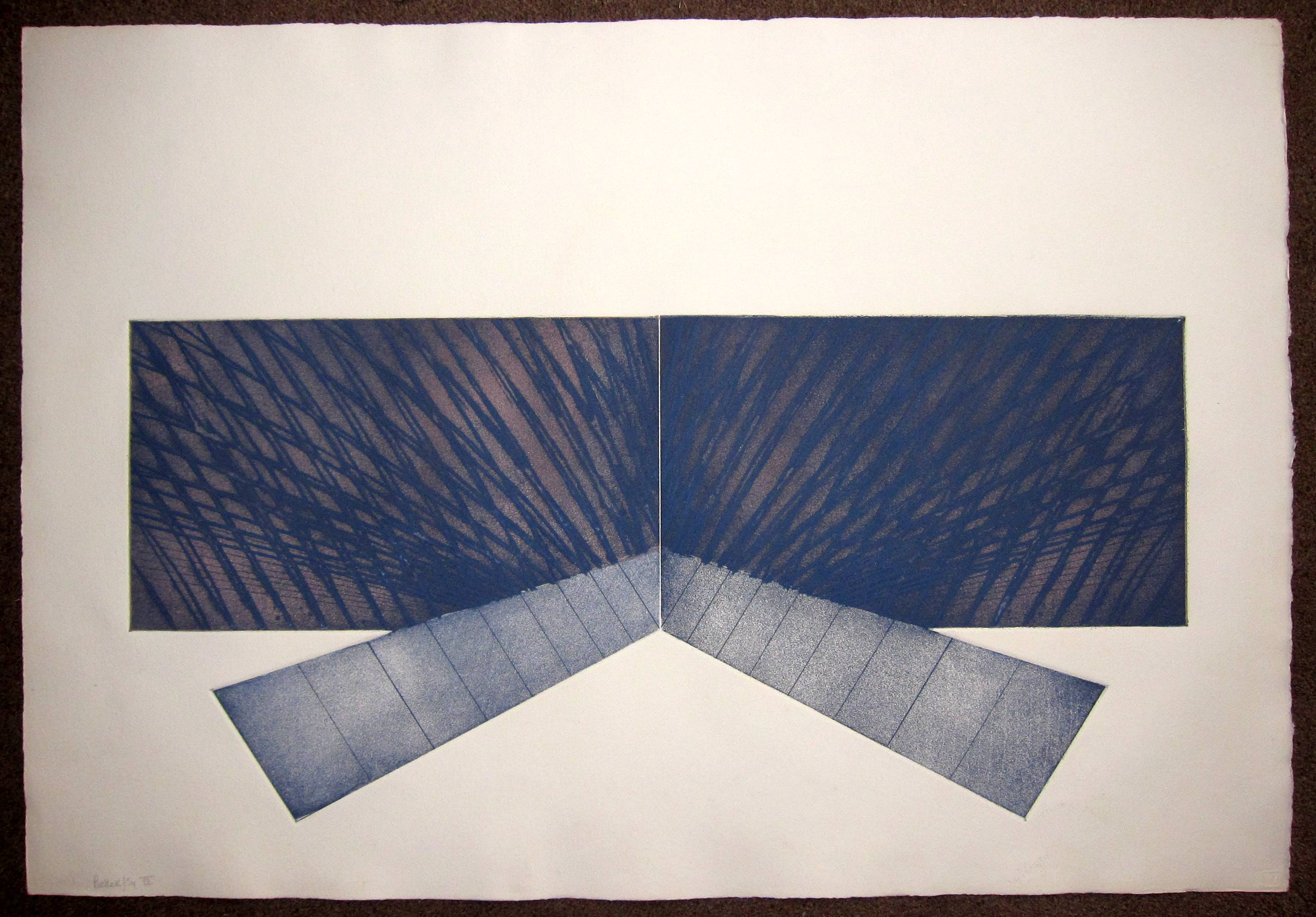 RICHARD SMITH, R.A. [1931-2016]. Butterfly 11, 1971. Etching and aquatint, edition of 40, proof.