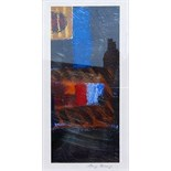 RAY BARRY [b.1931]. Untitled 1 and 11 [2 paintings in the lot]. Acrylic on card. Signed. 18 x 8 cm