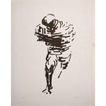 OLIFFE RICHMOND [1919-77]. Running Figure, 1966. Lithograph, 58/250. Signed and dated. 65 x 51 cm [