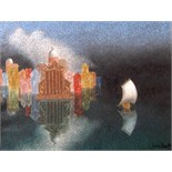 JOHN ARMSTRONG, R.A. [1893-1973]. Dream of Venice 1, 1955. Oil on canvas. Signed. 40 x 51 cm [