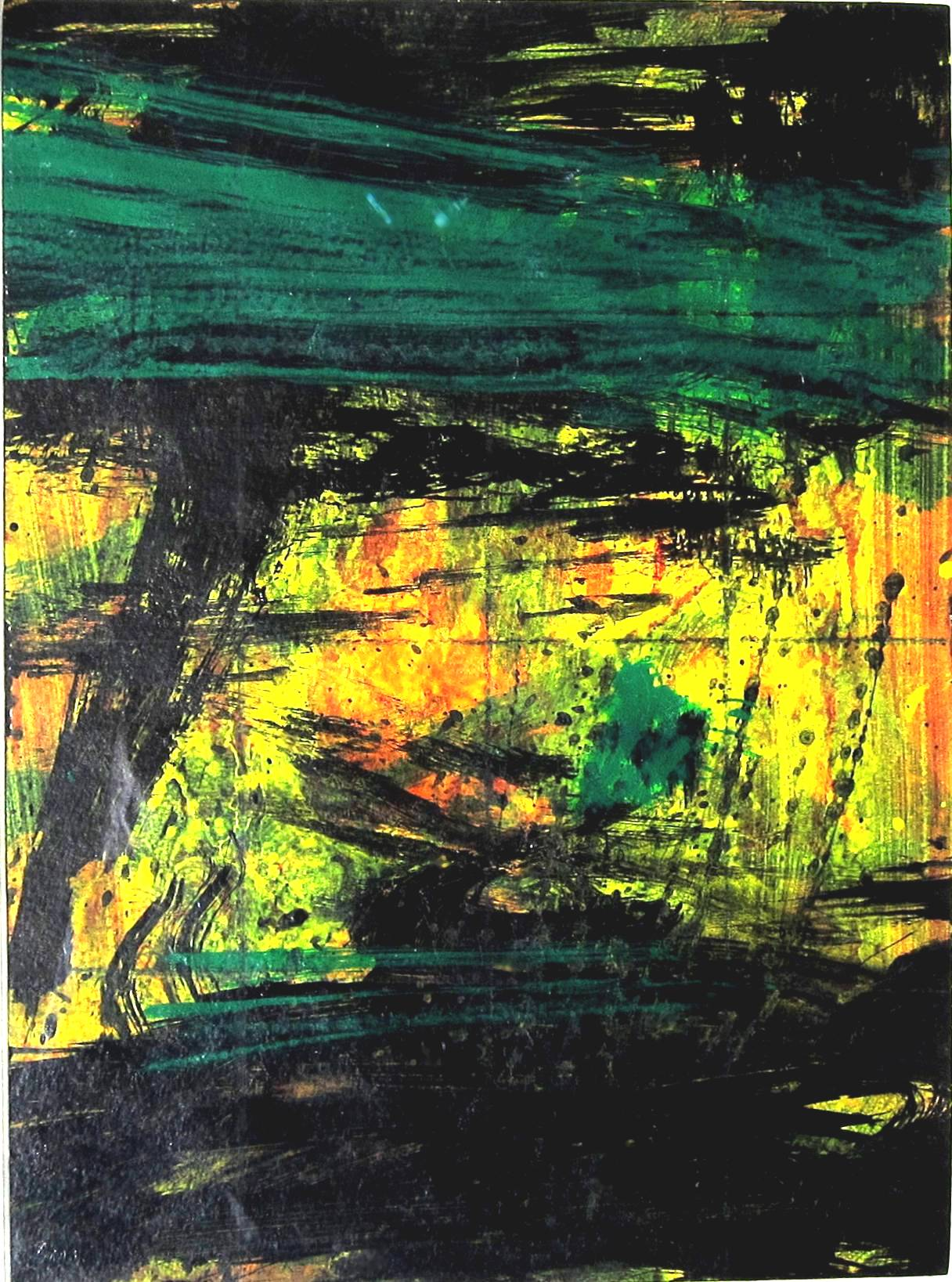 ROBERT CLATWORTHY, R.A. [1928-2015]. Abstract, 1998. Acrylic on card. Signed with initials. 29 x