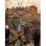 CAREL WEIGHT, R.A. [1907-97]. The Builders [a view from the artist's bedroom window - 33 Spencer