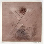 VELU VISWANADHAN [b.1940]. Composition. Etching [edition of 2?]. Signed. 65 x 50 cm [sheet size -