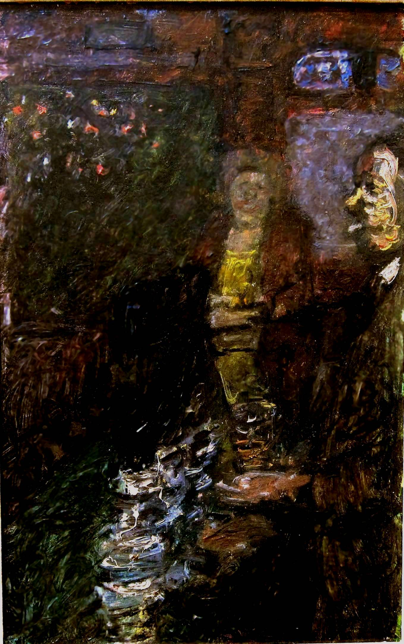 RUSKIN SPEAR, R.A. [1911-90]. In the Hop Poles. Oil on board. Signed and titled on a label on the