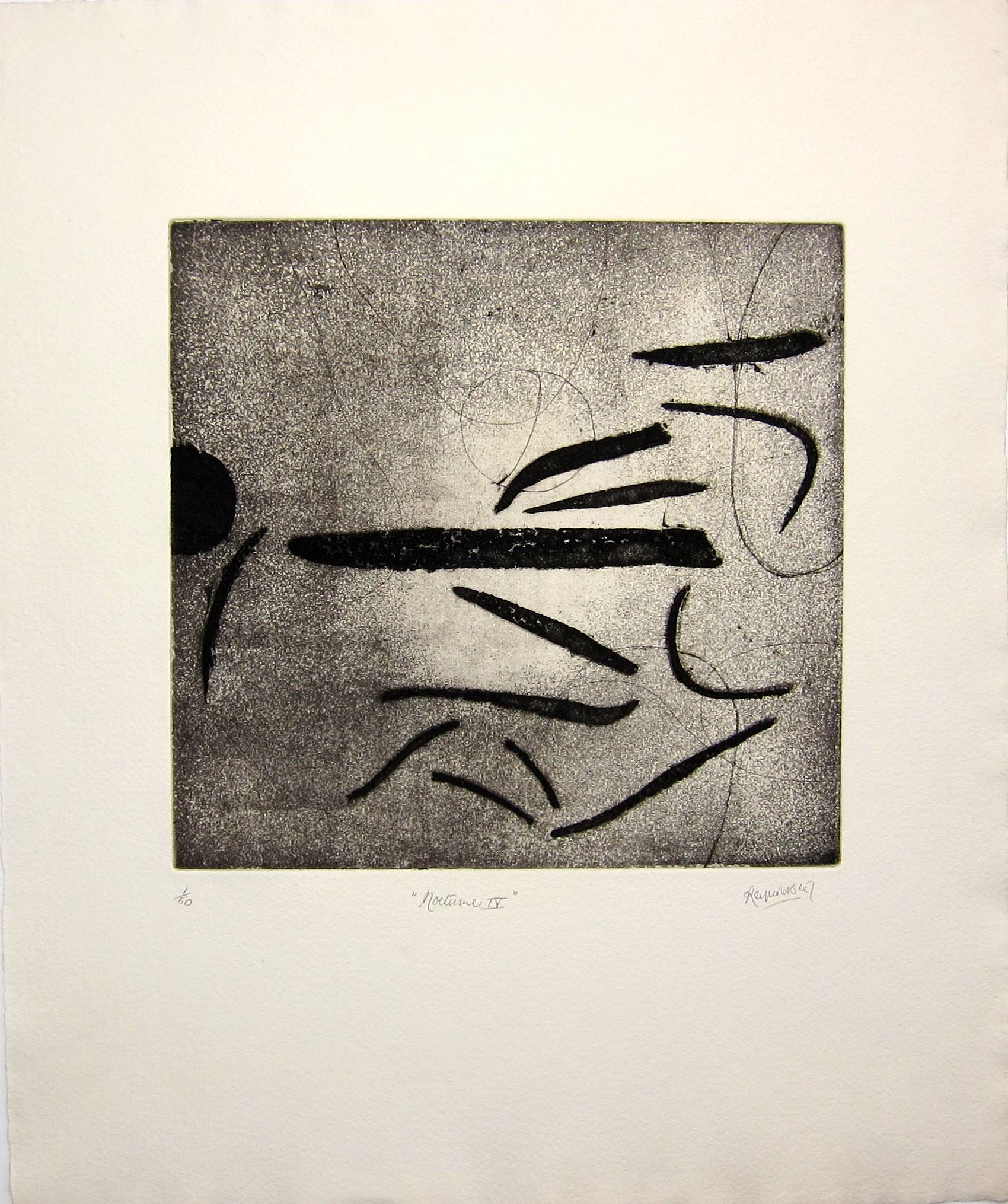 Lot 17 - ALAN REYNOLDS, R.A. [1926-2014]. Nocturne !V, 1967, etching 1/50, the first of this edition -