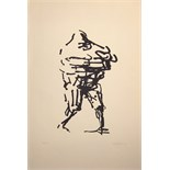 OLIFFE RICHMOND [1919-77]. Walking Figure, 1966. Lithograph, 99/250. Signed and dated. 77 x 53 cm [