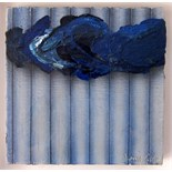 BARRIE COOK [b.1929]. Floating Blue, 1981. Oil on canvas. Signed. 31 x 31 cm [overall including