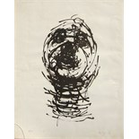 OLIFFE RICHMOND [1919-77]. Head, 1966. Lithograph, 29/250. Signed. 62 x 49 cm [sheet size -