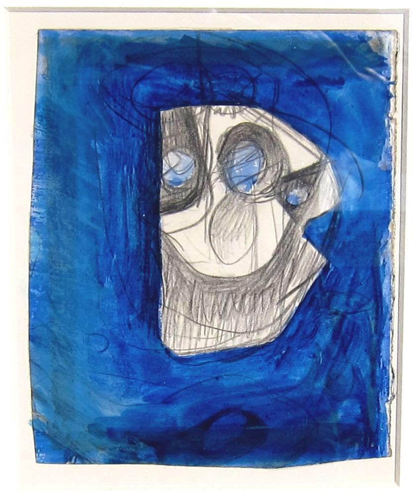 BERNARD MEADOWS, R.A. [1915-2005]. Study for Sculpture, 1951. Watercolour and pencil. Provenance: