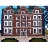 EDWARD BAWDEN, R.A. [1903-89] Kew Palace, 1983. Linocut and lithograpg, ed. 160. Signed. 64 x 77