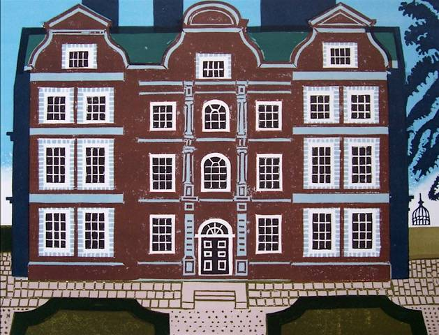 Lot 7 - EDWARD BAWDEN, R.A. [1903-89] Kew Palace, 1983. Linocut and lithograpg, ed. 160. Signed. 64 x 77