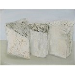 KIT BARKER [1916-88]. 3 Wedges of Cheese, 1984. Oil on canvas. Signed on reverse of canvas. 31 x