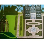 EDWARD BAWDEN, R.A. [1903-89]. Queen's Garden, 1983. Linocut and lithograph, ed. 160. Signed. 66 x