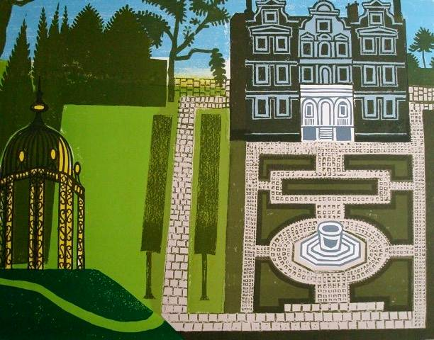 Lot 8 - EDWARD BAWDEN, R.A. [1903-89]. Queen's Garden, 1983. Linocut and lithograph, ed. 160. Signed. 66 x