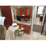 ADEC 511 SERIES DENTAL CHAIR, 541 DUO REAR-DELIVERY UNIT, 5580 CABINET, 5531/5730 SINK W/ CABINET