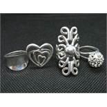 Job lot of 4x silver dress rings 24grams