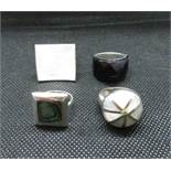 Job lot of 4x silver dress rings weight 32grams