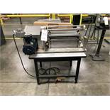"Schaefer Machine Co. Solvent Cement Roll Coating Machine, 15"" Roll Width, Model SRN 15, S/N S-3006"