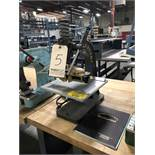 "Kwikprint Hot Foil Stamping Machine, Model 55, Heat Control, Table: 12"" x 12"""