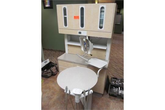Adec Preference 5580 12 O'Clock Dental Cabinet w/ Adec 545 ...