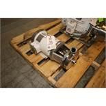 Waukesha Cherry-Burrell 5/3 hp Centrifugal Pump, M/N 0216, S/N 1000002792986, with Leeson 3515/