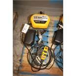 Quantum 1/2 Ton Electric Chain Hoist, M/N Q100-1RD50P14-11A3C, S/N 0100-6934-01, 230 Volts, 3 Phase,