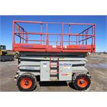 2006 SkyJack Scissor Lift model SJ8841 - 41 feet lift with Rugged Tires for rough Diesel