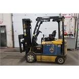 FREE CUSTOMS - 2014 Yale 6500lbs Capacity Forklift with 3-stage mast - electric with charger with