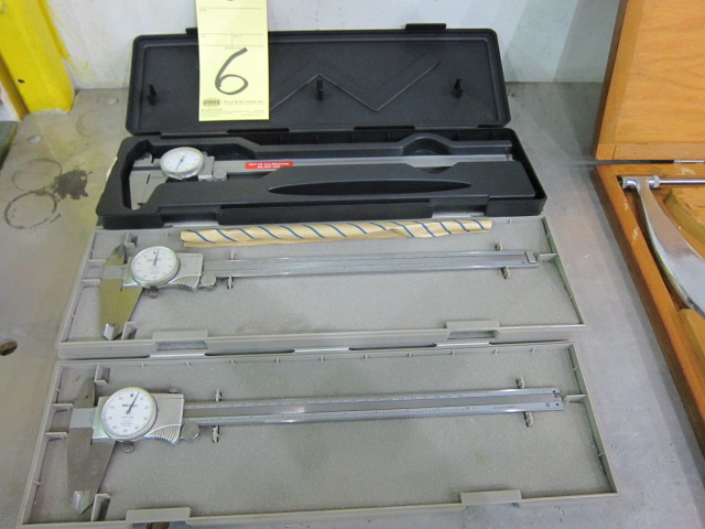 Lot 6 - LOT OF DIAL CALIPERS (3), 12""