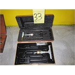 Lot 33 - LOT OF DEPTH MICROMETERS (2)