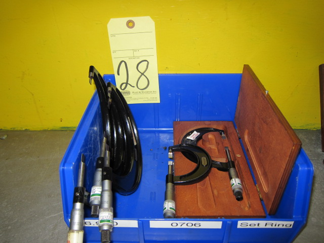 Lot 28 - LOT OF BLADE MICROMETERS (5), assorted