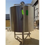 Aprox.1,473 L / 389 Gal. S/S Double Jacketed Tank with Agitator, Sprayball and Man Hole (Tank is