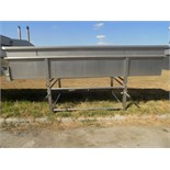 Aprox. 400 cm L x 80 cm H x 150 cm W 2-Compartment Open Top S/S Cheese Vat/Tank with Divider and (2)