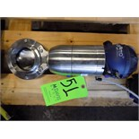 Bardiani Air Actuator S/S Butterfly Valve with Giotto Top and 80 cm Outlets (NEW)