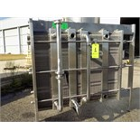 Reda 10.000 LPH S/S Plate Heat Exchanger, Model 26, S/N 09-90-676 with (4) Dividers, 5-Sections S/