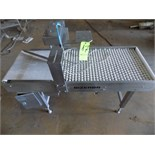 Bizerba Teflon Roll and Belt Conveyor, S/N 1981461 with Air Operated Divider and VFD, 230 V (Overall