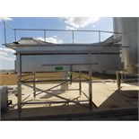 Aprox. 310 cm L x 80 cm H x 150 cm W 2-Compartment Open Top S/S Cheese Vat/Tank with Divider and (2)
