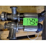 Bardiani 3-Way Clamp Type/Threaded S/S Air Valves with Giotto Tops and 70 cm Outlets