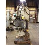SUMMIT VERTICAL MILLING MACHINE, MODEL 3XHD, HYDRAULIC SADDLE CLAMP WITH SPLASH ASSEMBLY, S/N