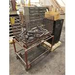 METAL CABINET & ROLLING BASKET & BOX & VERTICAL METAL CABINET WITH TOOLING, TOOL ARMS AND BITS,
