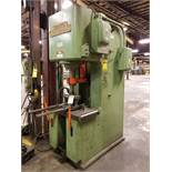 DENISON 50-TON HYDROIL-IC VERTICAL MULTIPRESS, MODEL NA50C92D24A112, 4'' SHAFT, 19'' X 31'' TABLE,