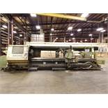 OKUMA LH50-N CNC LATHE, POWER TAILSTOCK, CROSS SLIDE WITH DUAL TOOL HOLDERS WITH 8-TOOL HOLDERS,