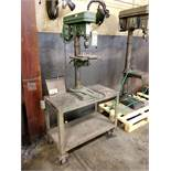 CENTRAL 16-SPEED BENCH TOP VERTICAL DRILL PRESS, MODEL T-6724, 195-3630 SPINDLE SPEEDS, 13'' X 9