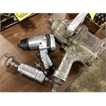 (3) PNEUMATIC AIR TOOLS - 1'' DRIVE IMPACT WRENCH, 1/2'' DRIVE IMPACT WRENCH, AND HAND HELD STRAIGHT