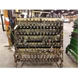 A-FRAME ROLLING RACK OF TAPER TOOLING & COLLETS - CAT 50 V FLANGE HOLDERS WITH TOOLING (14X6) + (10)