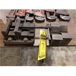 4'' MACHINE VISE & (2) 5'' SADDLE BLOCKS WITH 1'' DEEP SADDLE
