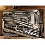 ASSORTED SIZE ALLEN WRENCHES (LARGE TO SMALL), (5) ASSORTED SIZEFOLDING ALLEN WRENCH SETS, (2) C-